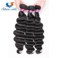 Необработанные продукты волос Монголии дешевые Реми волосы глубокую кривая естественного человеческого волоса Weft
