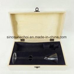 カスタマイズされた白い木のワインのコップ箱の包装の箱は泡との