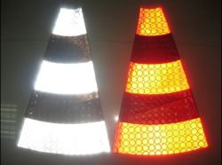 PVC Reflective Material Banner para tráfego Safety Road Cone