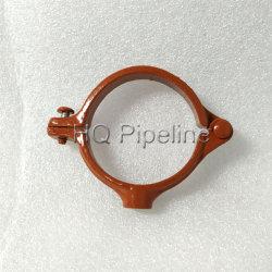 La abrazadera del tubo con recubrimiento epoxi Colgador de anillo de división