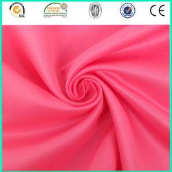 Lisse et pas cher robe Textile 75D*75D polyester Tissu satin mat
