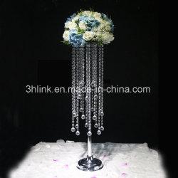 Pièces maîtresses acrylique Tall Crystal Bougeoir/Tableau des chandeliers en cristal acrylique pièce maîtresse de mariage