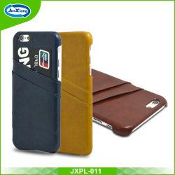 Очень тонкий мобильный телефон кожаный чехол для iPhone 6 задней обложки из кожи и слот для карт памяти