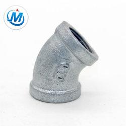Hembra de bandas de galvanizado Hotdipped Codo de 45 grados hierro maleable accesorios de tubería