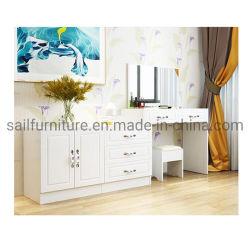 Eitelkeits-justierbare Abziehvorrichtung-Luxuxschlafzimmer-Frisierkommode-Abziehvorrichtung mit Fach und Spiegel
