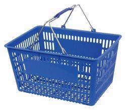 Cestino di acquisto pieghevole del supermercato della maniglia del metallo