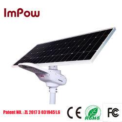 80W einteilige Bewegungs-Fühler-Straßenlaterne der Sonnenenergie-integrierte LED