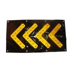 Signal de la route du trafic solaire LED Témoin de flèche directionnelle