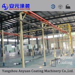 China Fornecedor vegetais no teto da linha de pintura por pó de pintura electrostática