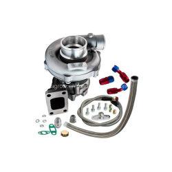 T3/T4 T04e. 57 a/R del turbocompresor de rendimiento y la alimentación de aceite + Kit de tubería de retorno de 300 CV+Turbo refrigerado por aceite de 1.6-2.5L Wastegate interna