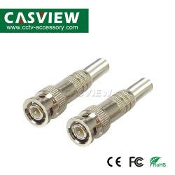 Freier männlicher Verbinder des Lötmittel-BNC mit Schraube (CBN-002)