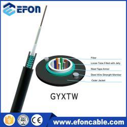 Leitung-Faser-Optikkabeleinbau GYXTW des Gefäß-6 des Kern-G652D mit Stahldraht-Kurier gewelltem Stahlband-Kabel Uni lösen