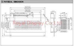 20*4 LCD van de Vertoning van de MAÏSKOLF Stn van het Karakter van punten LCM de Grootte LCD van de Raad 20X4 (RYP2004B)