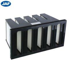 Cadre en acier galvanisé moyen V-Filtre à air de la Banque pour la climatisation