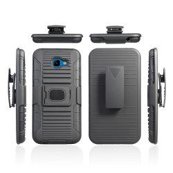 Produit de gros cas Combo Clip ceinture Couleur Logo personnalisé couvercle de téléphone cellulaire pour Samsung J4 Core