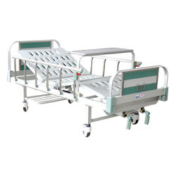 سرير مستشفى يدوي مزدوج مع 2-Functiions
