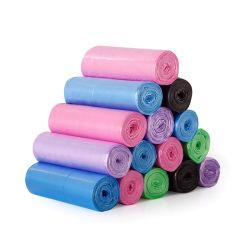 Customized barato lixo plástico sacos de lixo Rolo de fabricação de recusar o saco de HDPE