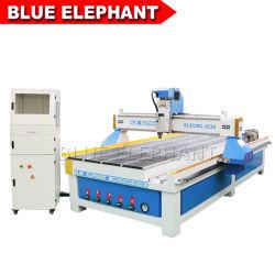 チーナン青い象1230のMDF階段ステップおよび木の手すりのための回転式軸線CNCのルーター
