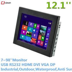 Moniteur 12inch intsbrightness extérieur industriel 10001280*1024 Openframe écran HDMI USB