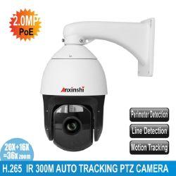 2019 Nuova analisi PTZ di inseguimento automatico Smart IP PoE Starlight Alimentazione telecamera DC12V con opzione allarme e audio