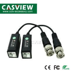 Video video Balun passivo del CCTV UTP del trasmettitore di twisted pair del ricetrasmettitore del Balun 600m di Cvi/Ahd/Tvi con il maschio Cat5 di BNC