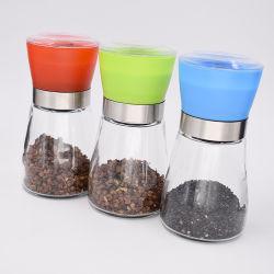 Le sel et poivre moulin à poivre en verre Titulaire d'usine de bouteilles de meulage