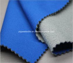 Tecido de poliéster Softshell (tecido pongées+ TPU velo de microfibras coladas)