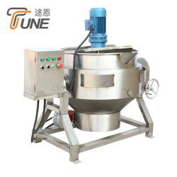Elektrischer Heizungs-Umhüllungen-Kessel mit Quirl/industriellem kochendem Potenziometer-/Stau-kochendem Kessel-Umhüllungen-Wasser-Doppelt-Umhüllungen-Potenziometer