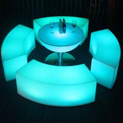 RGB LED plástico moderno uña larga taburete de bar de Lujo Alquiler eventos