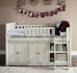 As crianças personalizados com Cama de Cama Deslize Madeira Armário de armazenamento do leito elevada Estante colocar cama (M-X3739)