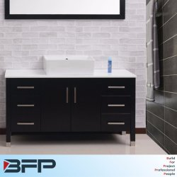 Un seul bol Venner en bois de style européen du bassin de la salle de bains meubles Cabinet