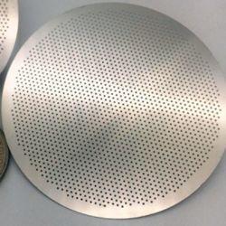 Orificio redondo de acero inoxidable Chapas perforadas hojas Foto Grabado Filtro de malla para la filtración química