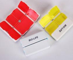 cadeau de promotion de l'aimant pilule pliables en plastique Case de l'organiseur