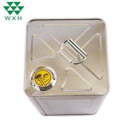 15L Carré d'olive comestibles métallique du joint de l'étain peut vider le liquide de frein tambour à huile avec bouchon à vis