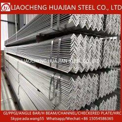 China proveedor de materiales de construcción de la barra de ángulo de acero galvanizado a precio de ángulo de la Gi
