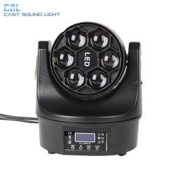 6pcs 15W Osram Bee Eye RGBW 4en1 LED Mini Moving Head Wash