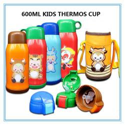 600ml num balão de vácuo garrafa de água em aço inoxidável para a alimentação de crianças
