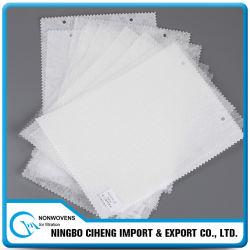 Tissu non-tissé à laminage à chaud de polyester d'animal familier de constructeur de base en gros de filtre