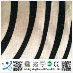 Nuevo diseño de moda tejidos impresos Fabricante de tejido blando Haining flocado con lámina