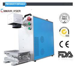 30W Portable machine de marquage au laser à fibre optique en plastique des touches du téléphone mobile, transmission de la lumière des touches, les composants électroniques