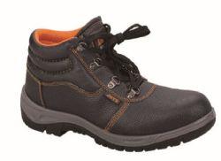 강철 발가락을%s 가진 안전 일 보호 가죽 신발