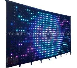 2*4m P18 огнеупорные светодиодный RGB видение шторки для этапа диско-бар