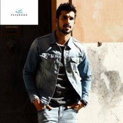 Mode coton occasionnel Light Blue Jeans Denim vestes par Fly