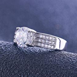 Luxuxschmucksache-Diamant-Hochzeits-Band-Ring