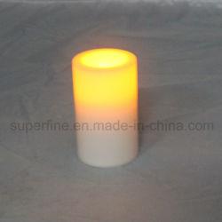 Mariage de faux décoratifs de scintillement de l'Église Flameless Candle ornement LED en plastique