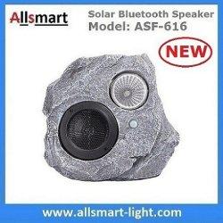 Солнечного камня полимера гарнитуры Bluetooth громкоговоритель лампа PIR датчик движения для освещения открытый патио с видом на сад прудах парк