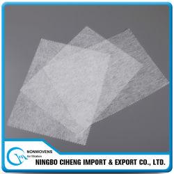 Tissu de base non-tissé de polyester à laminage à chaud matériel de circuit principal de filtre