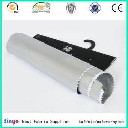 Silver taffetas de 100 % polyester recouvert de tissu pour rideaux blackout /couvre de carrosserie