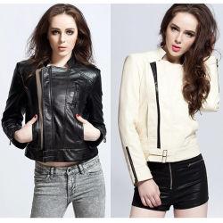 Commerce de gros Fashion Lady L Dernière Femme Veste de cuir