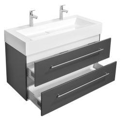 黒いPVCミラーの浴室用キャビネットのBlumの浴室用キャビネット